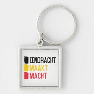 Porte-clés d'Eendracht Maakt Macht, devise belge