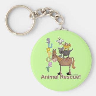 Porte-clés Délivrance animale de soutien