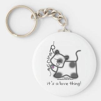 Porte-clés DÉLIVRANCE noire et blanche de chat… c'est une