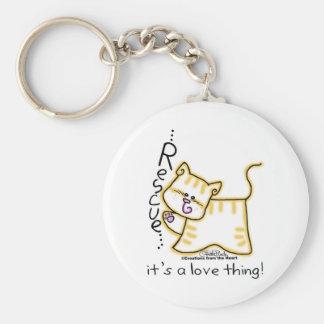 Porte-clés Délivrance tigrée jaune… c'est une chose d'amour !