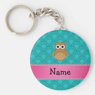 Porte-clés Demi-cercles bruns nommés personnalisés de