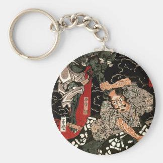 Porte-clés Démon de combat de Watanabe Tsuna, 歌川国芳
