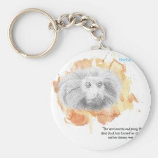Porte-clés Démon d'or de singe - ses matériaux foncés