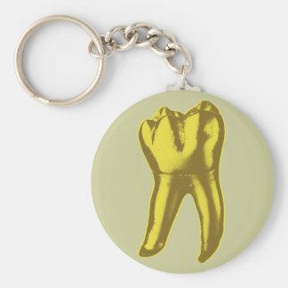 Porte-clés Dent d'or