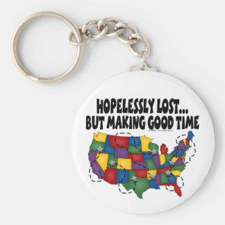 Porte-clés Désespérément perdu…. Porte - clé