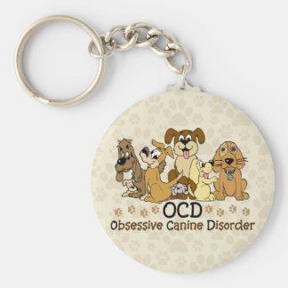 Porte-clés Désordre canin obsédant d'OCD