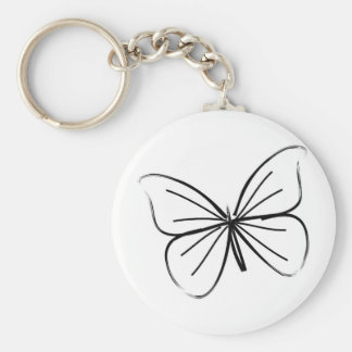 Porte-clés Dessin au trait simple papillon