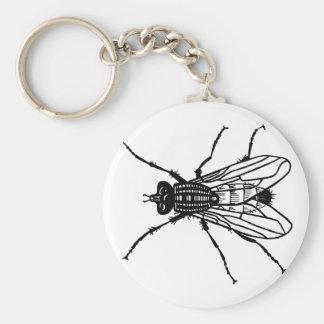Porte-clés Dessin de mouche - l'insecte, parasite, vole