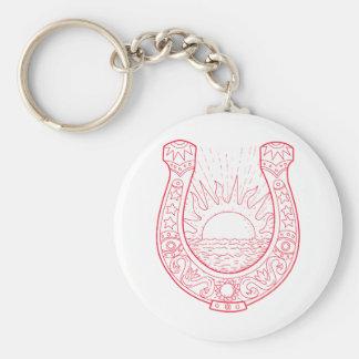 Porte-clés Dessin en fer à cheval de mer de Sun de bonne
