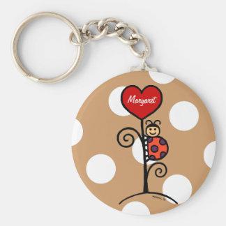 Porte-clés Dessin mignon personnalisé de coccinelle