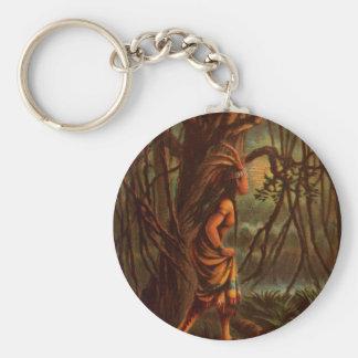 Porte-clés Dessin vintage : Pocahontas, princesse indienne