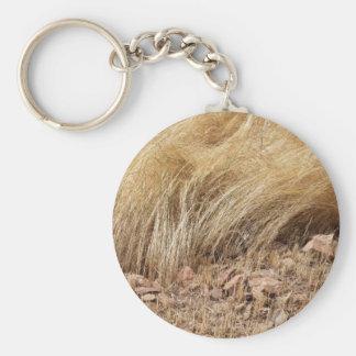 Porte-clés Détail d'un champ de teff pendant la récolte