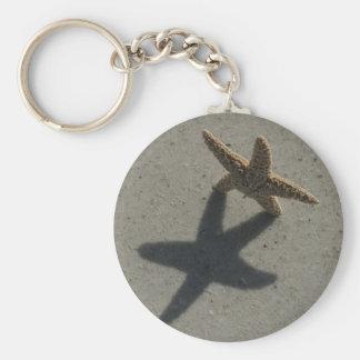 Porte - clés d'étoiles de mer porte-clé rond