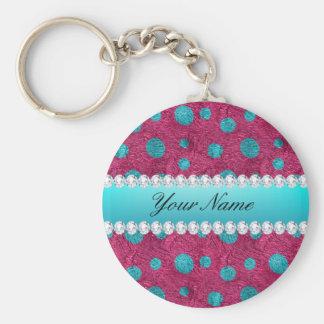 Porte-clés Diamants bleus de Faux de roses indien de pois