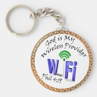 Porte-clés Dieu est mon 4h19 sans fil de Phil de fournisseur