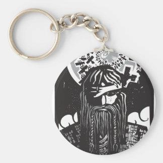 Porte-clés Dieu Odin des norses avec les corneilles en