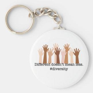 Porte-clés Différent ne signifie pas moins : Diversité
