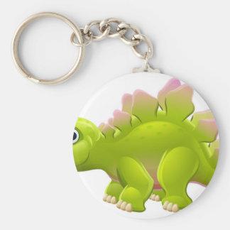 Porte-clés Dinosaure mignon de bande dessinée de Stegosaurus