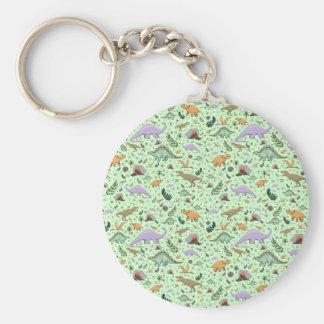 Porte-clés Dinosaures en vert