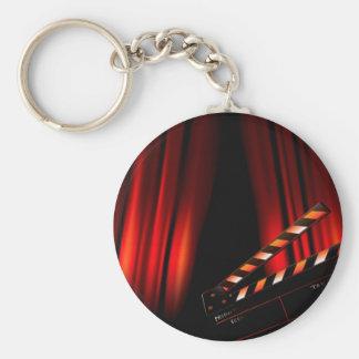 Porte-clés Directeur rouge de bardeau de rideau en film