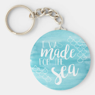 Porte-clés Dirigé vers le porte - clé d'aquarelle de mer