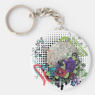 Porte-clés Disco argentée grunge Ball2 [converti] - 01