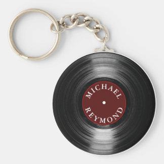 Porte-clés disque vinyle avec mon nom