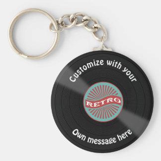 Porte-clés Disque vinyle customisé