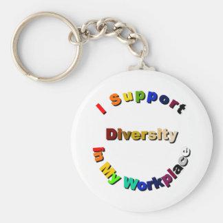 Porte-clés Diversité de soutien dans mon porte - clé de lieu