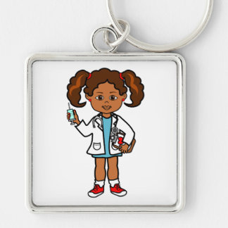 Porte-clés Docteur Girl de bande dessinée avec la grands