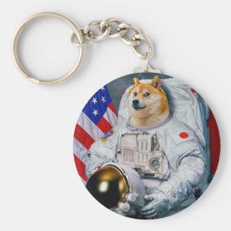 Porte-clés Doge chien-mignon d'astronaute-doge-shibe-doge de