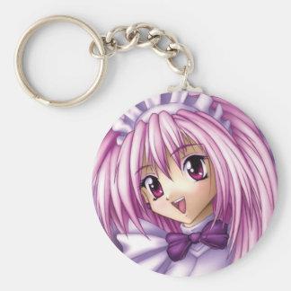Porte-clés Domestique mignonne de fille d'Anime