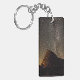 Porte-clés Double anneau principal dégrossi brun grisâtre de