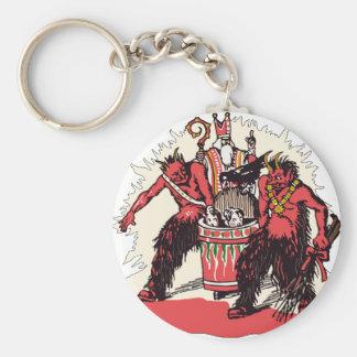Porte-clés Double Krampus et vieux St Nick