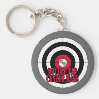 Porte-clés Double porte - clé de la masse de centre de