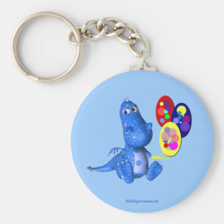 Porte-clés Dragon bleu et porte - clé mignon de ballons