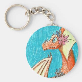 Porte-clés Dragon et fleurs - version de WIP