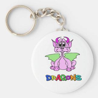 Porte-clés Dragon rose