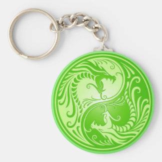 Porte-clés Dragons de Yin Yang, vert clair