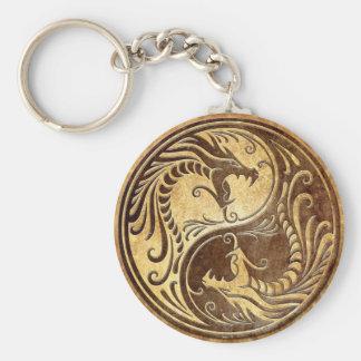 Porte-clés Dragons en pierre de Yin Yang