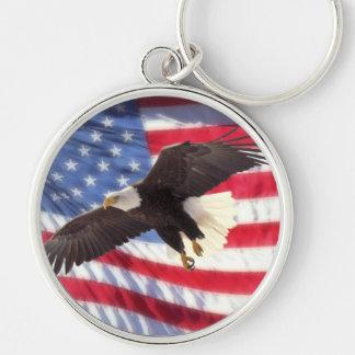 Porte-clés Drapeau américain et porte - clé d'Eagle