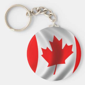 Porte-clés Drapeau canadien de ondulation