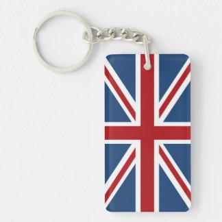 Porte-clés Drapeau classique d'Union Jack R-U