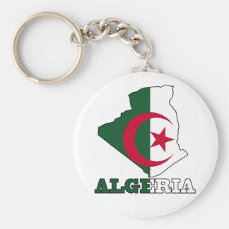 Porte-clés Drapeau dans la carte de l'Algérie