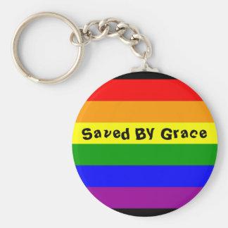 Porte-clés drapeau d'arc-en-ciel, sauvé par grâce