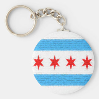 Porte-clés Drapeau de Chicago