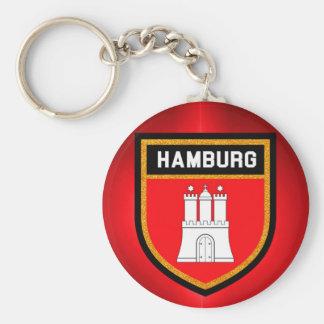 Porte-clés Drapeau de Hambourg