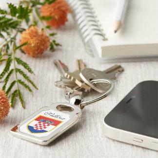 Porte-clés Drapeau de la Croatie personnalisé