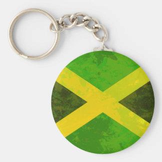 Porte-clés drapeau de la Jamaïque - racines de reggae