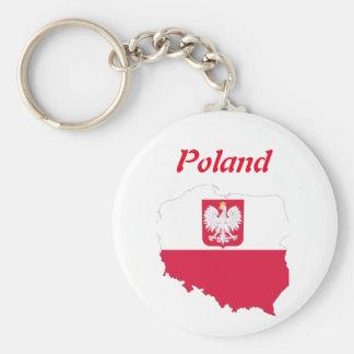 Porte-clés Drapeau de pays polonais